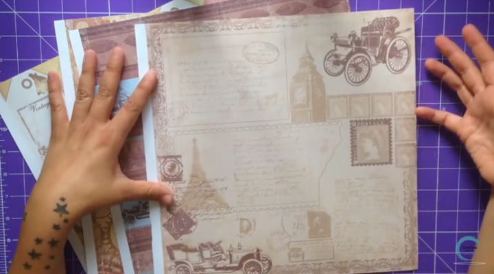 tutorial scrapbooking vintaje