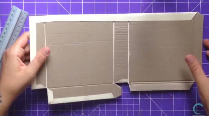 base de carton forrada para la cajita