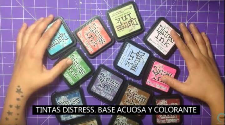 muchos colores de tintas