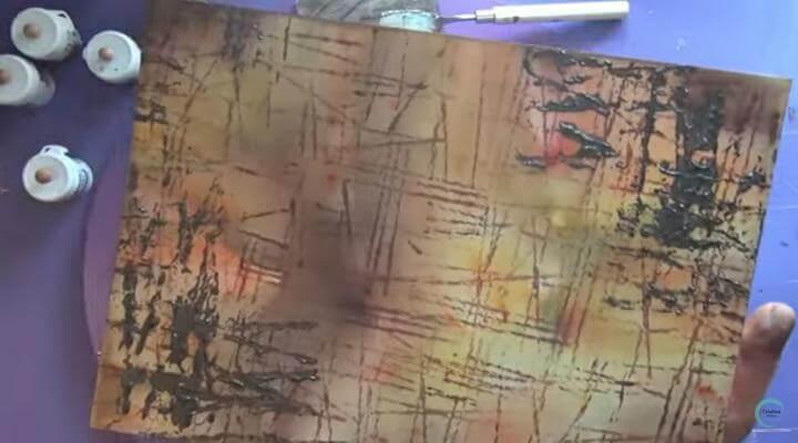 pasta de textura marrón