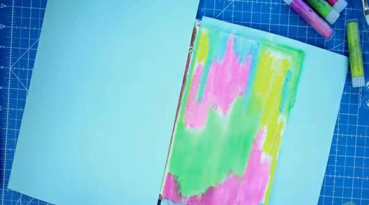 fondo del art journal pintado con gelatos