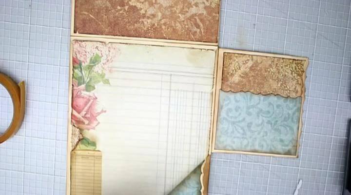 decorando estructura del álbum scrap
