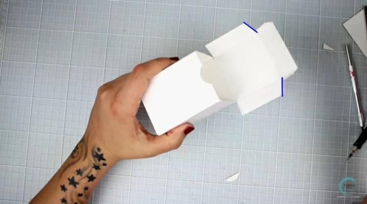 armar estcutura para la envoltura original de regalos