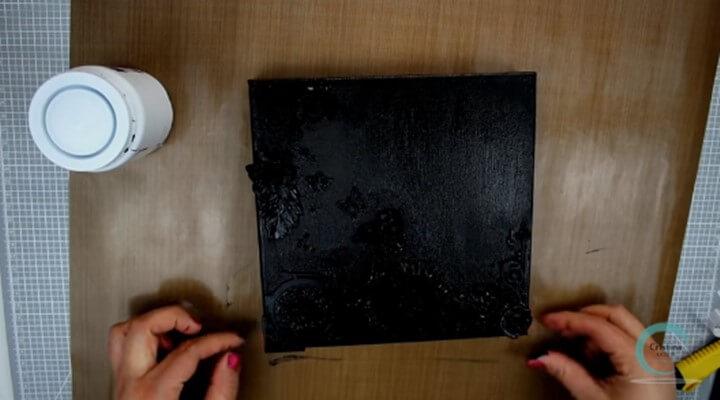 aplicar capa de gesso negro al canvas