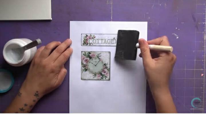 usar esponja sobre la imagen del photo transfer