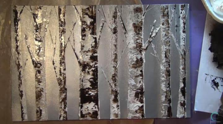 mixed media y canvas terminado