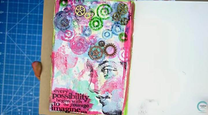 trabajo terminado de la pagina de art journal