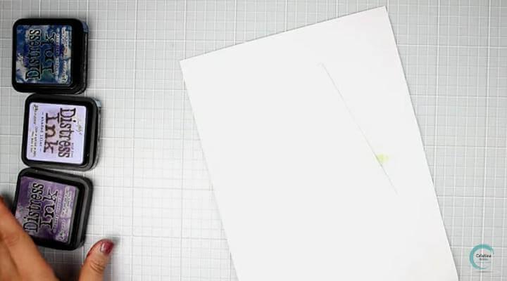 tintas para el fondo de la tarjeta con