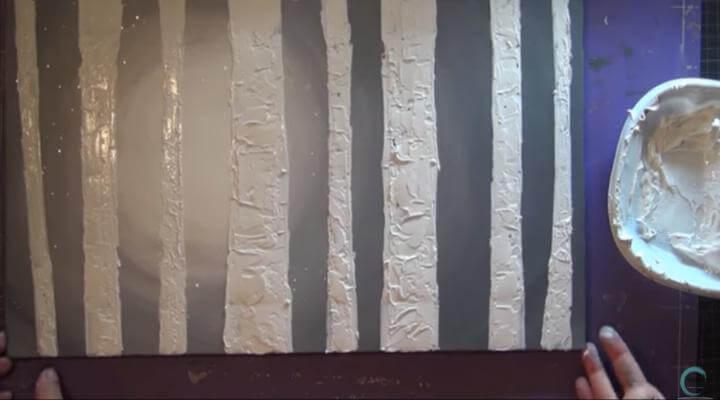 dibujar troncos en mixed media y canvas